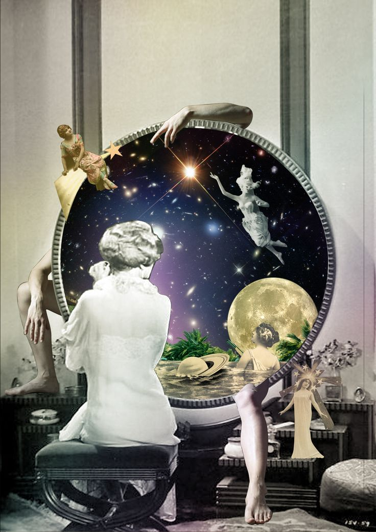 is Reality? #surreal #collage #spacetime #moon #women #art #collageart