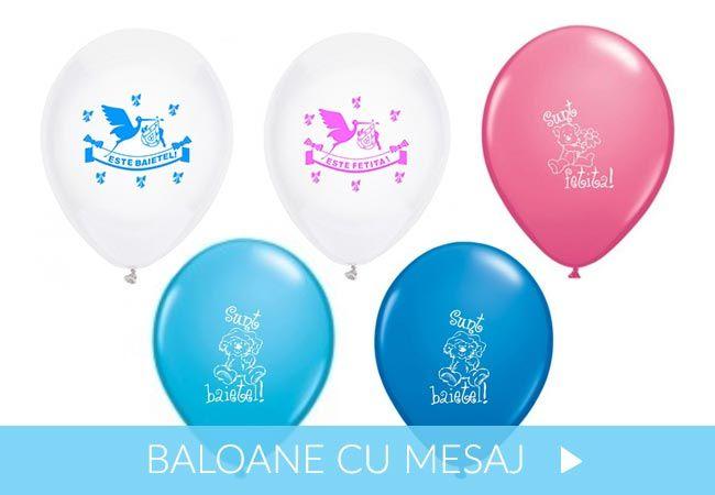 Baloane de botez cu mesaj