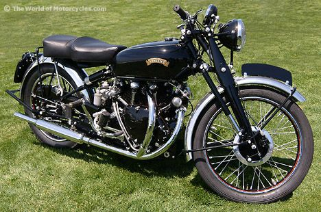 The street legal version of the Black Lightning... The Vincent Black Shadow. I think this is a 51.