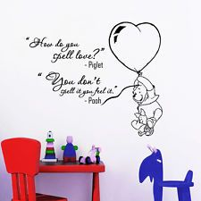Wall Decal Quotes Winnie The Pooh Piglet How Do You Spell Vinyl Sticker DA3682