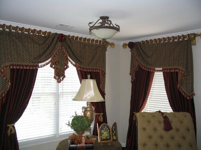 192 best Valances images on Pinterest Window coverings, Curtain - swag curtains for living room