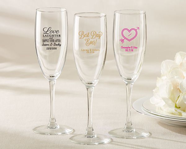 Glass Wedding Gifts: 17 Best Ideas About Personalized Champagne Flutes On