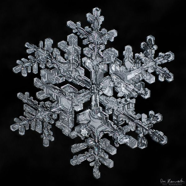 Combining layers of focus in photoshop.  And really awesome snowflake pictures.