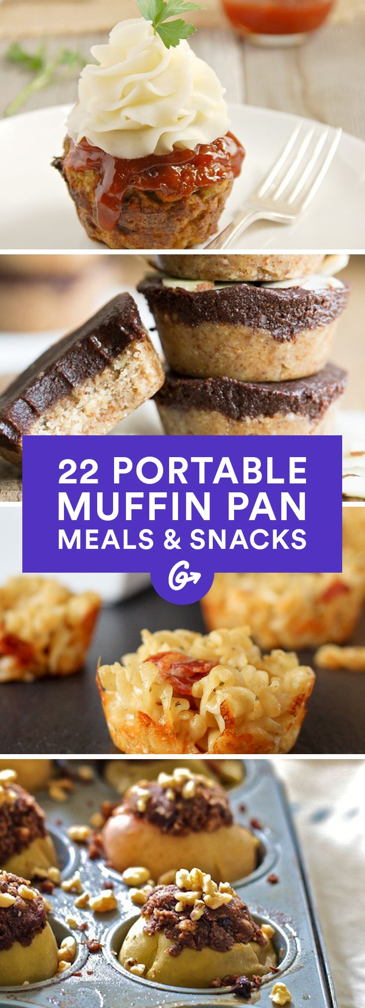 22 Portable Meals and Snacks You Can Make in a Muffin Pan #muffins #recipes #healthy http://greatist.com/eat/portable-muffin-tin-recipes