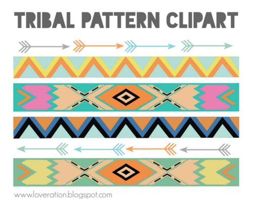 Tribal pattern clipart