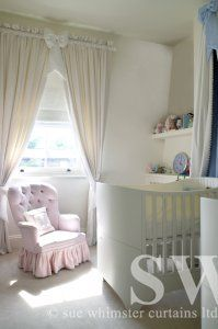 nursery curtains and blind