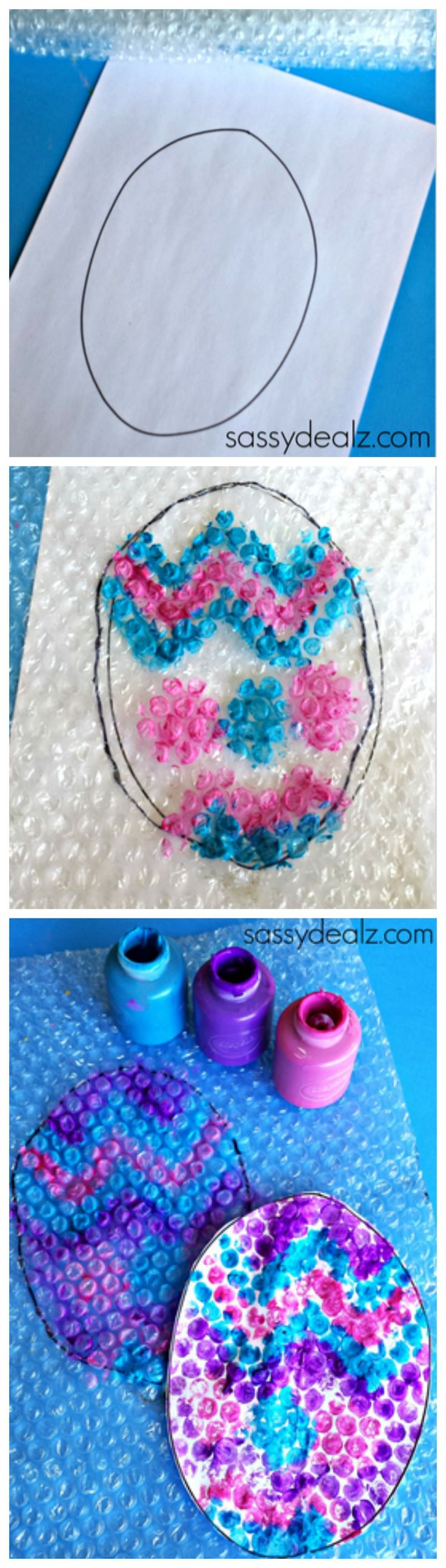 Bubble Wrap Easter Egg Craft for Kids #Easter art project #DIY | http://www.sassydealz.com/2014/04/bubble-wrap-easter-egg-stamp-craft-kids.html