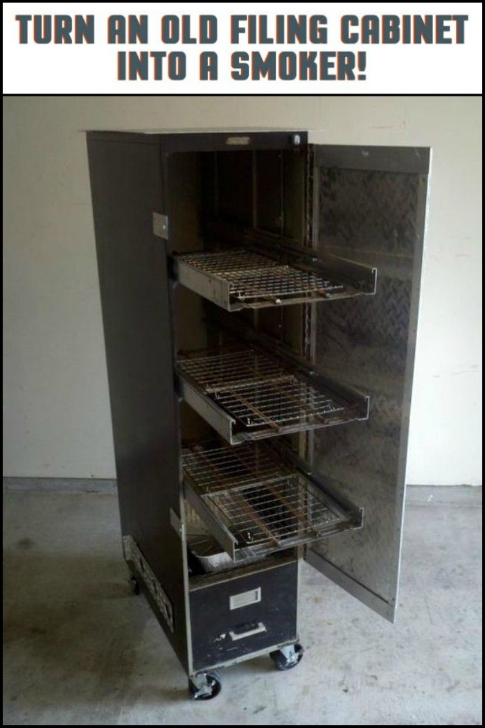Turn That Old Filing Cabinet into a Smoker!