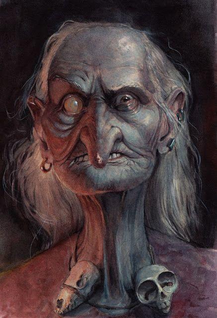 Baba yaga face