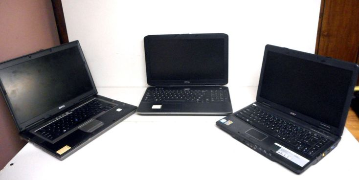 Lot of 3 Dell Inspiron & Acer Laptop Computers for Parts or Repair i5 processor