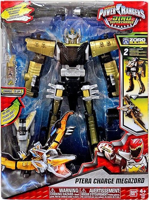 Help the Power Rangers Dino Super Charge team defeat forces of evil with the Ptera Charge Megazord.