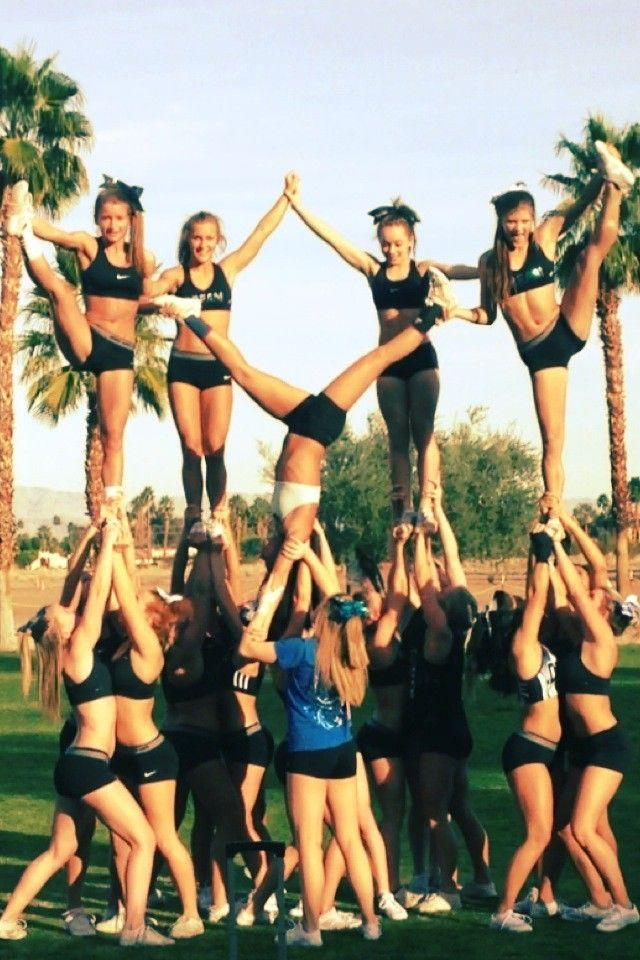 cheer end pyramid - Google Search