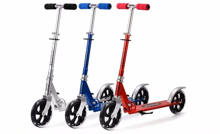 Scooters adultos niños scooter pie plegable ajustable patinete Aluminio 2 ruedas