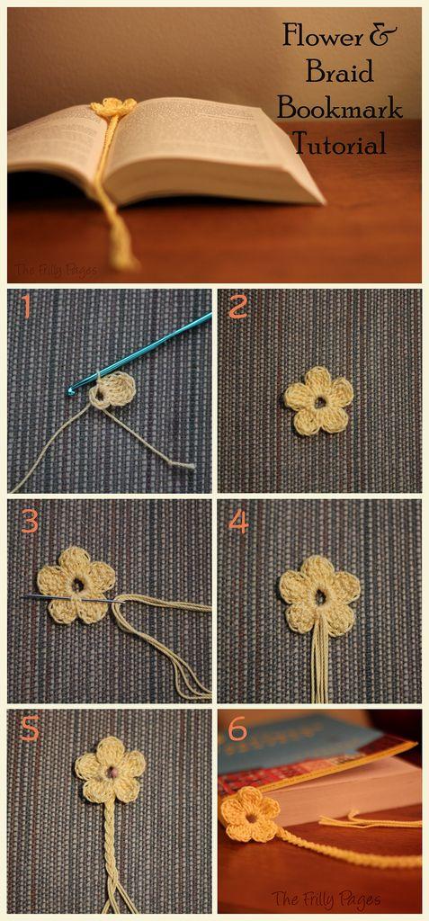 Flower and Braid Bookmark Tutorial