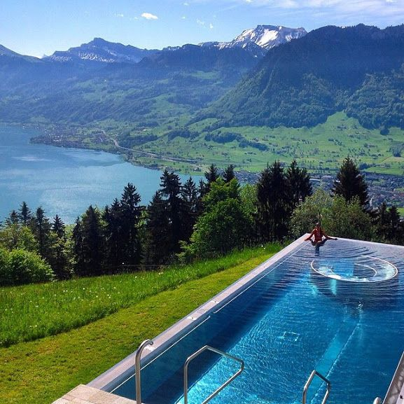 HIGH END HOTELS WITH POOL | Hotel Villa Honegg in Switzerland | www.bocadolobo.com #incrediblelandscape