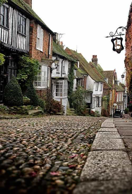 Mermaid Street and Mermaid Inn. Rye, Sussex, England | By Dom Broadley
