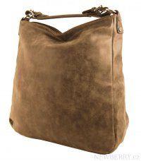 Velká kabelka z broušené kůže TH2015 hnědá