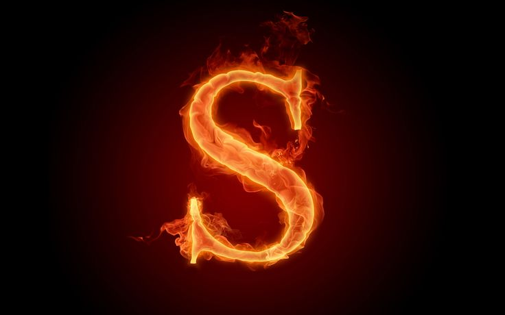 The fiery English alphabet picture R