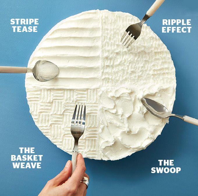 Decorar una tarta con una cuchara o un tenedor  Pinterest ;) | https://pinterest.com/cocinadosiempre/