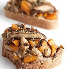 Тосты с грибами и тыквой рецепт – испанская кухня, вегетарианская еда: сэндвичи