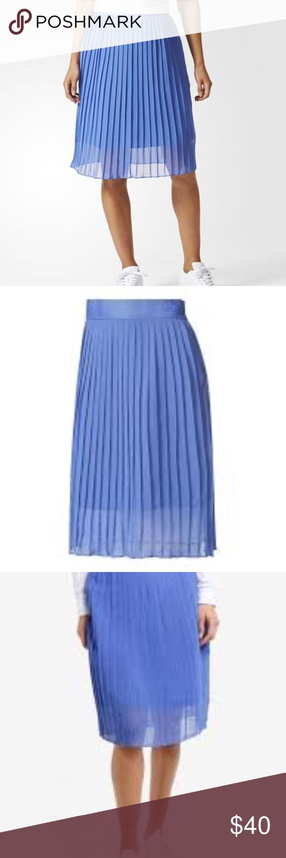 """Adidas Originals Ocean Elements Pleated Skirt NWT Adidas Originals Ocean Elements Pleated Skirt  Size Medium New With Tags Side Zipper approx 30"""" waist  and 24"""" long adidas Skirts Midi"""