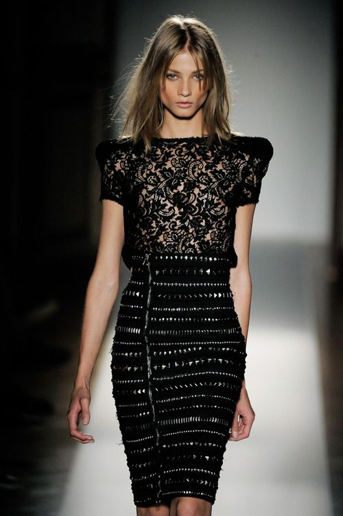balmain - edgy lace. love