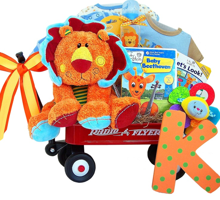 79 best baby shower gift baskets images on pinterest baby baby einstein lions in radio flyer wagon baby gift free shipping negle Images