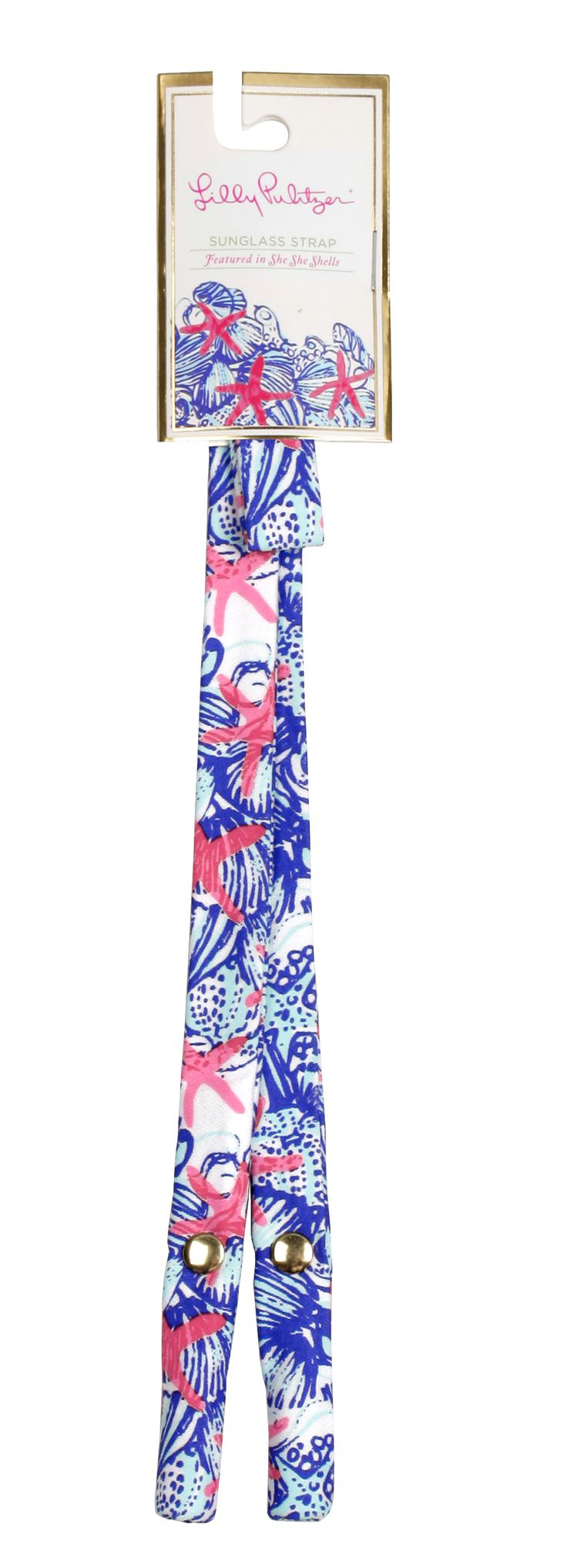 Lilly Pulitzer: She She Shells Sunglasses Strap   http://www.stitchartisan.com/lilly-pulitzer/lilly-pulitzer-she-she-shells-sunglasses-strap