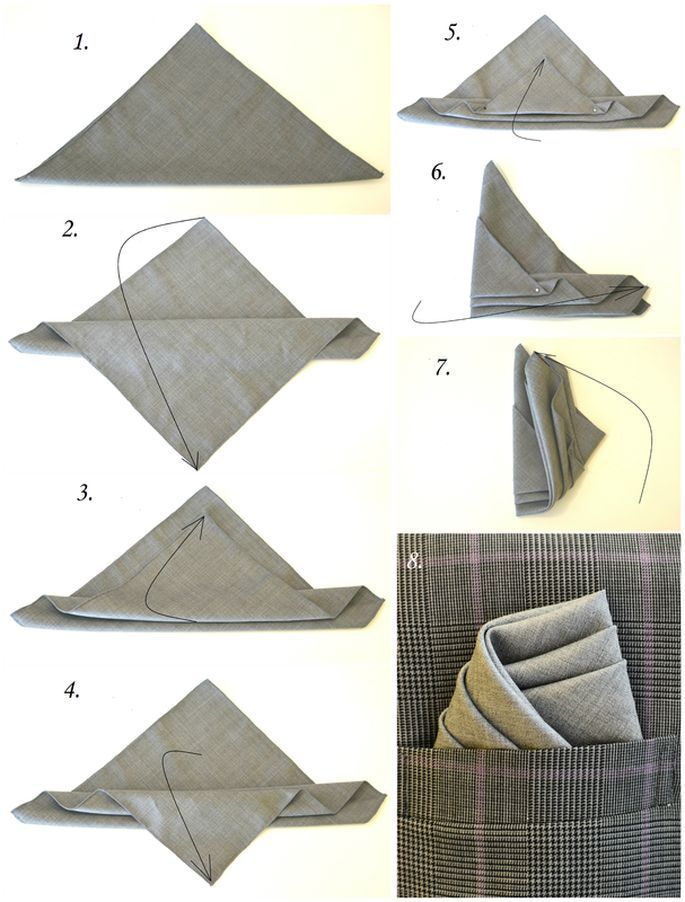 This is how you fold a pocket square like a pro.  … – #festliche #Fold #pocket… – Monica