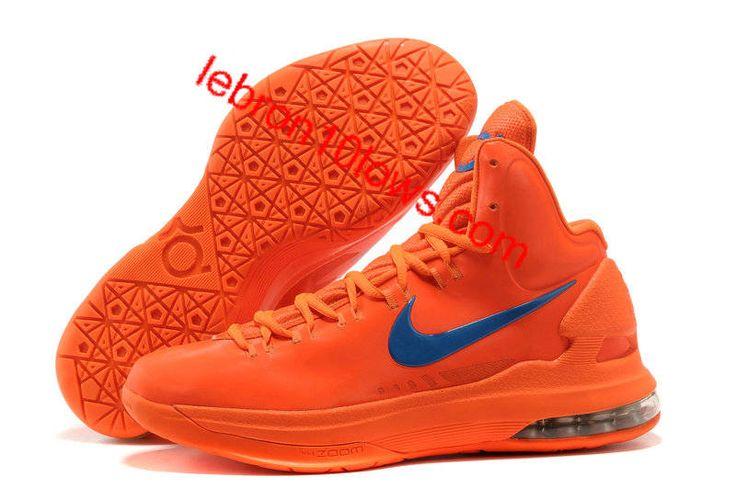 Sale Cheap Nike Zoom KD V 5 Creamsicle Orange Logo Blue Basketball Shoes  Sports Shoes Store