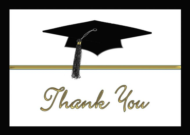 Black And White Graduation Thank You Graduation Cap Card Ad Ad White Black Graduation Card White Graduation Graduation Cap Cards