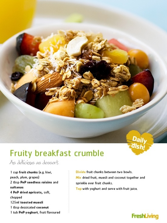 Fruity Breakfast Crumble | Cookbook | Pinterest