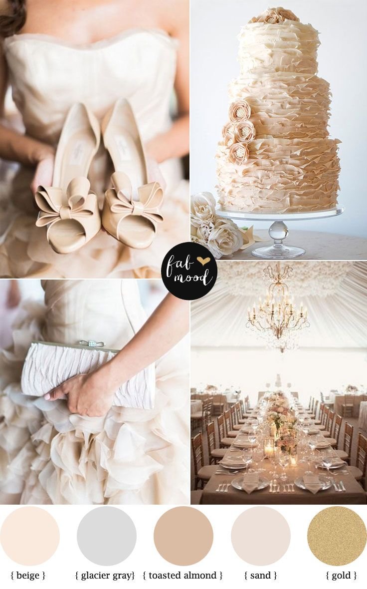 Fab Mood Wedding palette | Toasted almond and Glacier Gray palette | fabmood.com  #weddingcolours #weddingtheme #wedding