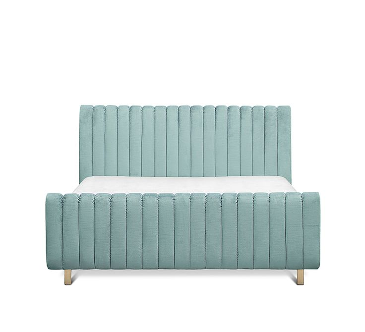 Sophia Bed  | Pure lust in velvet! This particular midcentury furniture piece is a must have in any interior design collection.