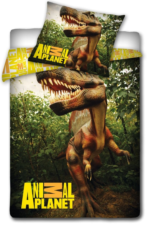 Bavlněné ložní povlečení se vzorem dinosaura