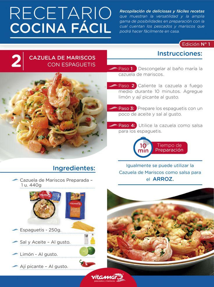 Cazuela de mariscos con espaguetis > http://vitamar.com.co/product/cazuela-de-mariscos-preparada-vitamar/