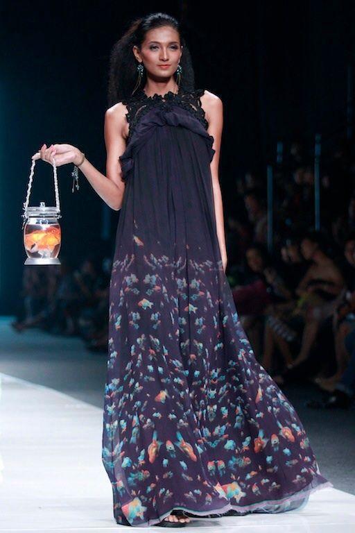 #BILLYTJONG Our 1st Ready To Wear Printed dress on Jakarta Fashion Week13 on Nov 2012 Look 8