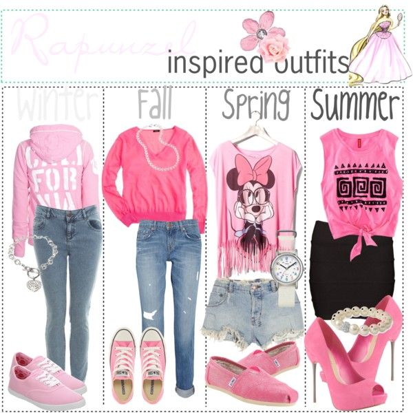 """"""" Disney Rapunzel inspired outfits :)"""" by shannonstyles on Polyvore"""