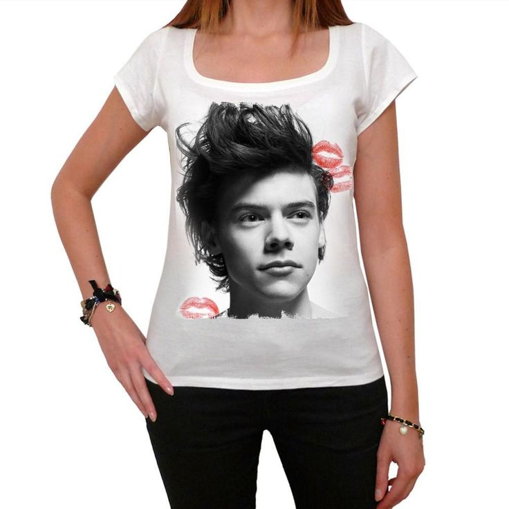 Harry Styles Kiss One Direction t-shirt Short-Sleeve Top celebrity 7015358