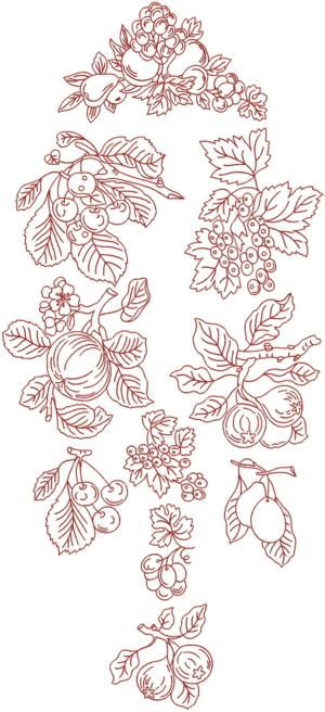 Redwork Embroidery Patterns | Redwork Fruit Set (Now 20% Off!)