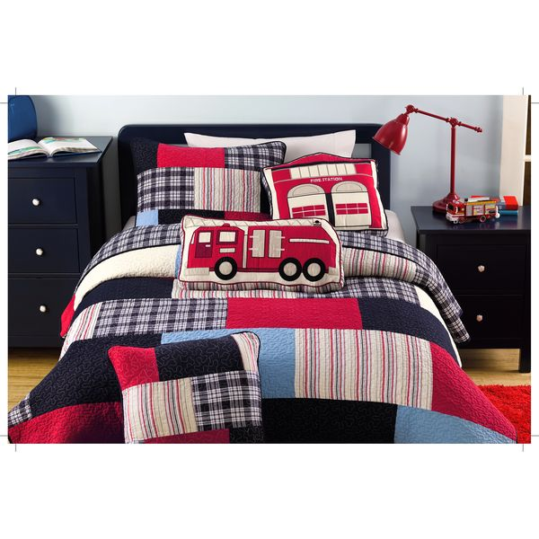 Thomas Firetruck Patchwork 3-piece Quilt Set - Overstock™ Shopping - The Best Prices on Kids' Quilts