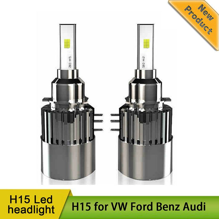 H15 LED Headlight Easy Install Canbus No Error Free High Beam Daytime Running Light DRL Head Lamp for Audi Mercedes VW Golf GLA