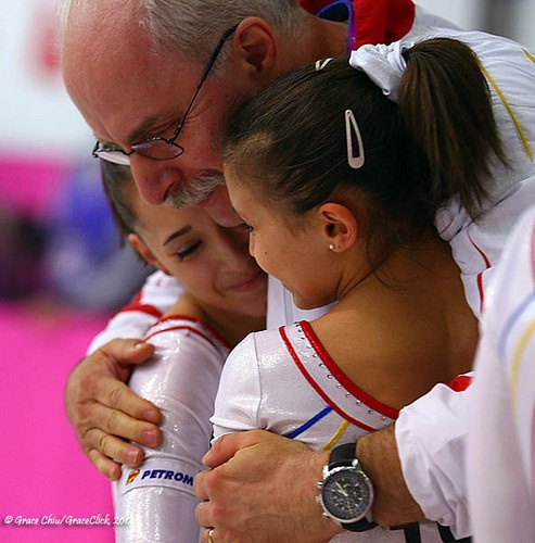 The little ones: Diana and Larisa. And the best coach in history: Octavian Bellu