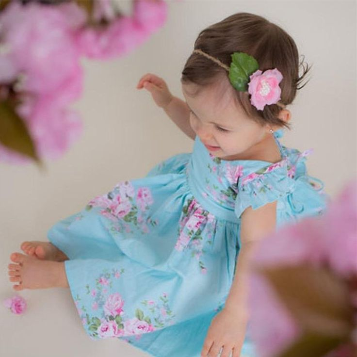 >> Click to Buy << 5 Styles Fashion Print Flower Dress Pure Vintage Print Floral Princess Dress For Toddler and Girls Party Girls Clothing Dresses #Affiliate