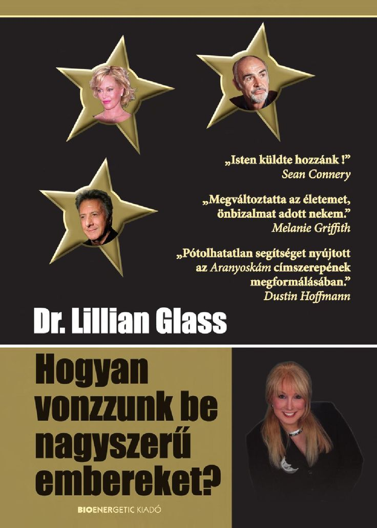 """Dr. Lillian Glass: Hogyan vonzzunk be nagyszerű embereket?  Webáruház: http://bioenergetic.hu/konyvek/dr-lillian-glass-hogyan-vonzzunk-be-nagyszeru-embereket Facebook: https://www.facebook.com/Bioenergetickiado """"A könyvben leírt gyakorlatok és technikák segítségével megtanuljuk, hogyan alakíthatunk ki gazdagabb, elmélyültebb és jelentőségteljesebb kapcsolatokat másokkal. Amint kapcsolatba kerültem olyan nagyszerű emberekkel, akik segítettek álmaim megvalósulásában, önbizalmam megnőtt, a ..."""
