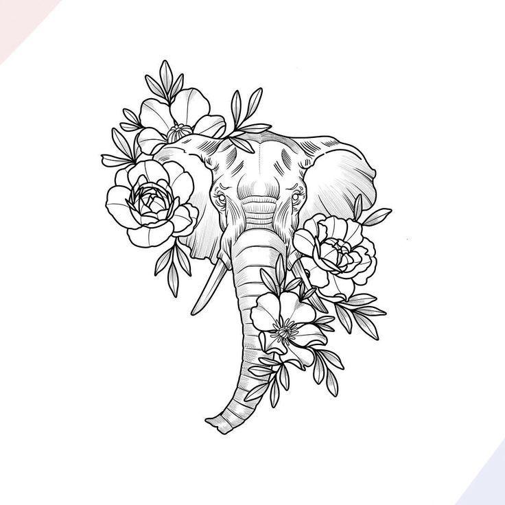 """""""Große Versprechen"""" -Design von Nathaly Bonilla #tattoos – Flower Tattoo Designs"""