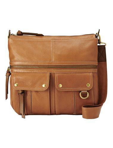 Sac Fossil Morgan top zip satchel handbag