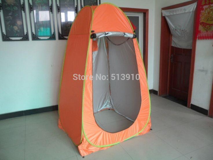 Покрытием из серебра портативный душ на открытом воздухе dreesing палатки / туалет / фотографии поп-воздушными палатку с уф функции
