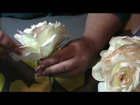 video tutorial rosas con papel de filtro. Con patrones.