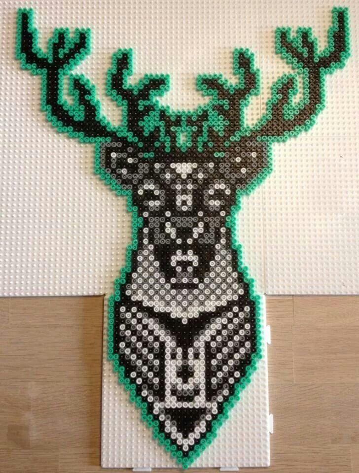 Deer hama perler art by Christina Ruskjær